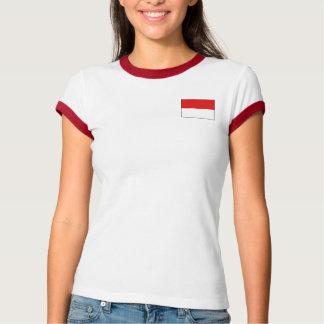 Drapeau de l'Indonésie + T-shirt de carte