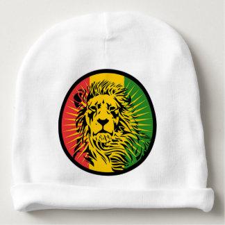 drapeau de lion de reggae de rasta bonnet de bébé