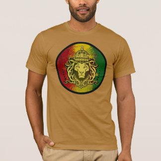 drapeau de lion de reggae de rasta t-shirt