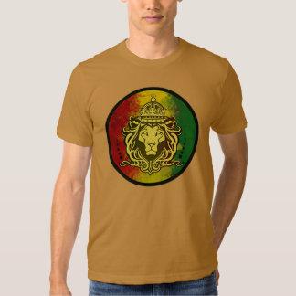 drapeau de lion de reggae de rasta t-shirts