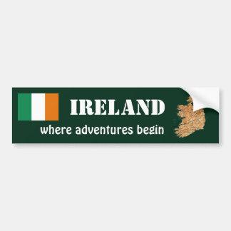 Drapeau de l'Irlande + Adhésif pour pare-chocs de Autocollant Pour Voiture