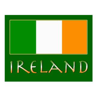 Drapeau de l'Irlande Carte Postale