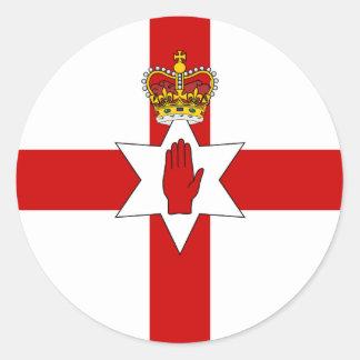 Drapeau de l'Irlande du Nord de bannière d'Ulster Sticker Rond