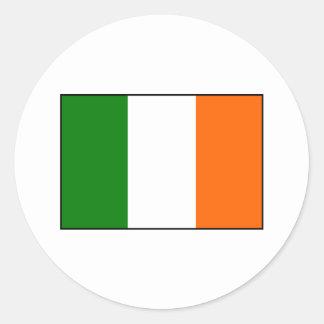 Drapeau de l'Irlande Sticker Rond