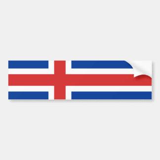 Drapeau de l'Islande Autocollant De Voiture