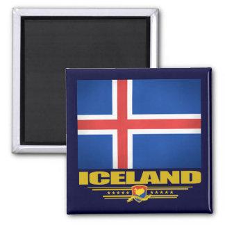 Drapeau de l'Islande Magnet Carré