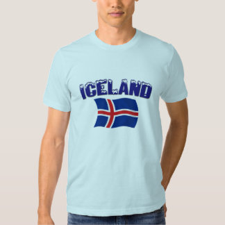 Drapeau de l'Islande (w/inscription) T-shirts