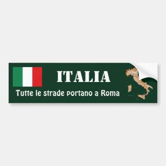Drapeau de l'Italie + Adhésif pour pare-chocs de Autocollant De Voiture