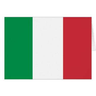 Drapeau de l'Italie Carte De Vœux