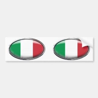 Drapeau de l'Italie dans l'ovale en verre Autocollant Pour Voiture
