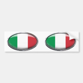 Drapeau de l'Italie dans l'ovale en verre Adhésif Pour Voiture