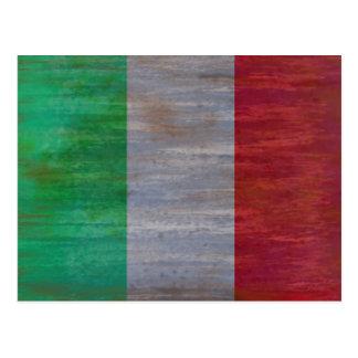 Drapeau de l'Italie - drapeau italien - Carte Postale