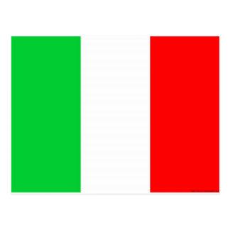 drapeau de l'Italie - drapeau italien Carte Postale