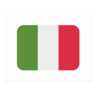 Drapeau de l'Italie - gazouillement d'emoji Carte Postale