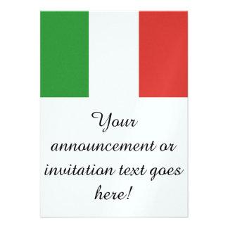 Drapeau de l'Italie Cartons D'invitation