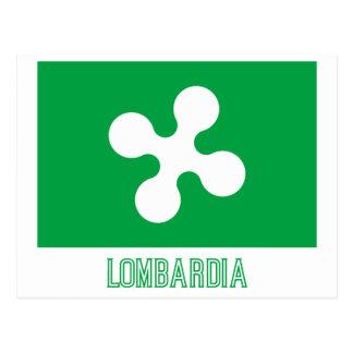 Drapeau de Lombardia avec le nom Cartes Postales