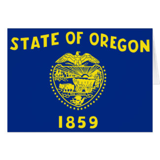 Drapeau de l'Oregon Carte De Vœux