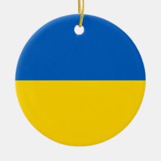 Drapeau de l'Ukraine - drapeau ukrainien - Ornement Rond En Céramique
