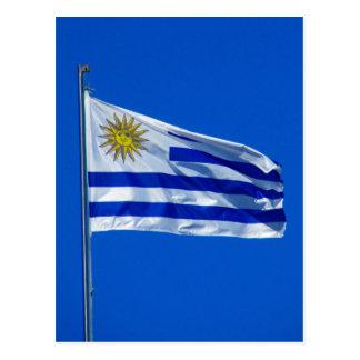 drapeau de l'Uruguay Carte Postale