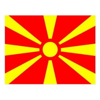 Drapeau de Macédoine Cartes Postales