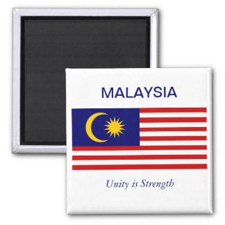 Drapeau de Malayasian Magnet Carré