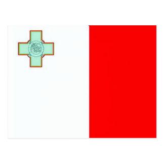 Drapeau de Malte Carte Postale