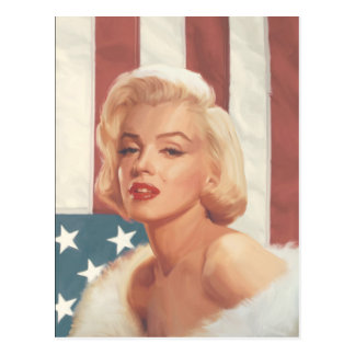 Drapeau de Marilyn Carte Postale