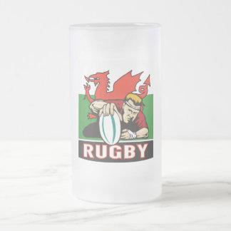 Drapeau de marquage du Pays de Galles d'essai de Frosted Glass Beer Mug
