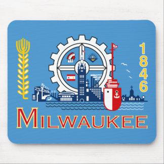 Drapeau de Milwaukee, le Wisconsin Tapis De Souris