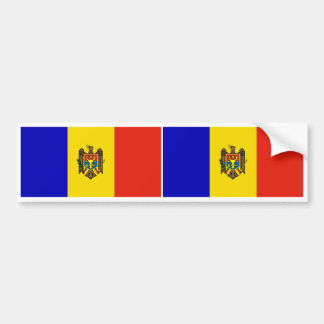 Drapeau de Moldau Autocollant De Voiture