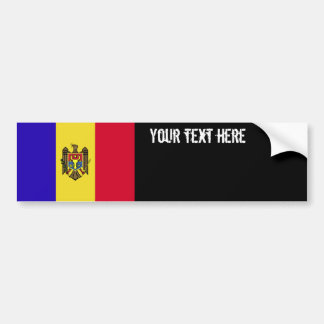 Drapeau de Moldau Autocollant Pour Voiture