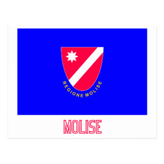 Drapeau de Molise avec le nom Carte Postale