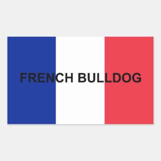 drapeau de nom de bouledogue français sticker rectangulaire