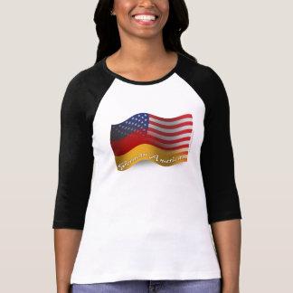 Drapeau de ondulation Allemand-Américain T-shirt