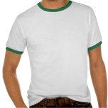 Drapeau de ondulation Brésilien-Américain T-shirt