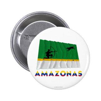 Drapeau de ondulation d Amazonas avec le nom Pin's