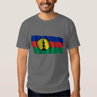 Drapeau de ondulation de Kanaky T-shirts