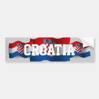 Drapeau de ondulation de la Croatie Autocollant Pour Voiture