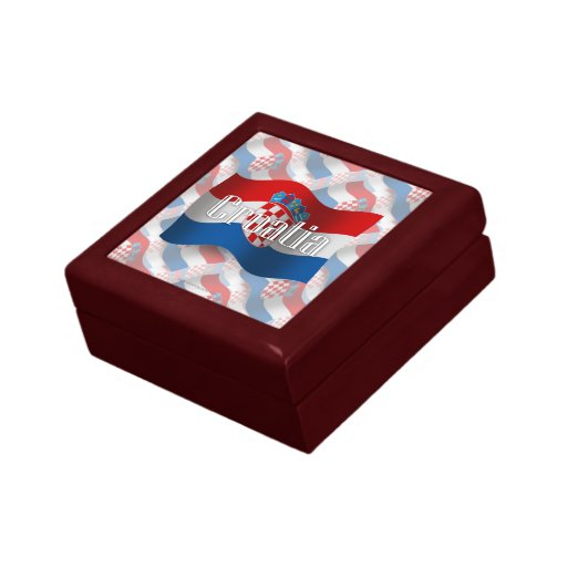 Drapeau de ondulation de la Croatie Coffrets Cadeaux