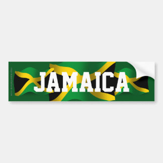 Drapeau de ondulation de la Jamaïque Autocollant De Voiture