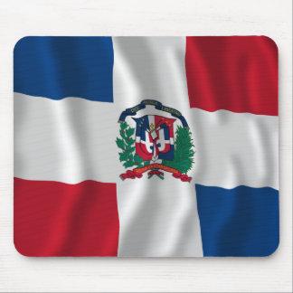 Drapeau de ondulation de la République Dominicaine Tapis De Souris