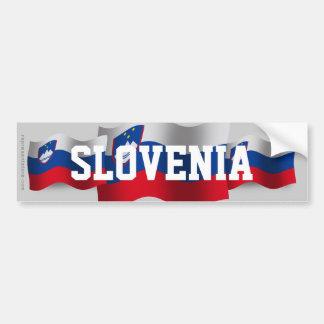 Drapeau de ondulation de la Slovénie Autocollant De Voiture