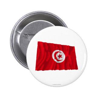Drapeau de ondulation de la Tunisie Badges Avec Agrafe