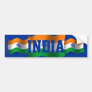 Drapeau de ondulation de l'Inde Autocollant De Voiture