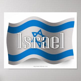 Drapeau de ondulation de l'Israël Affiches