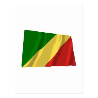 Drapeau de ondulation de République du Congo Carte Postale