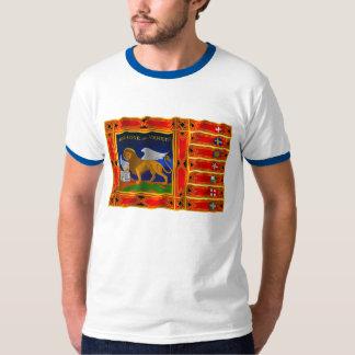 Drapeau de ondulation de Vénétie T-shirts