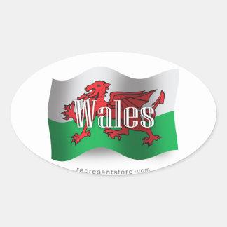 Drapeau de ondulation du Pays de Galles Adhésifs