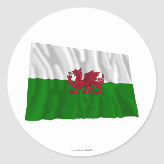 Drapeau de ondulation du Pays de Galles Autocollants