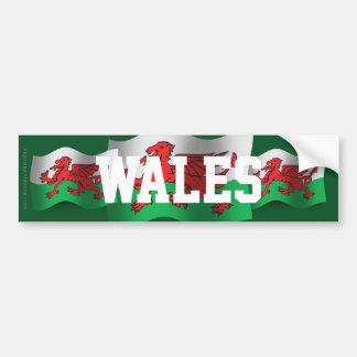 Drapeau de ondulation du Pays de Galles Autocollant De Voiture